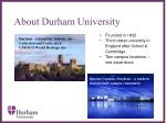 about durham university