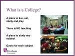 what is a college