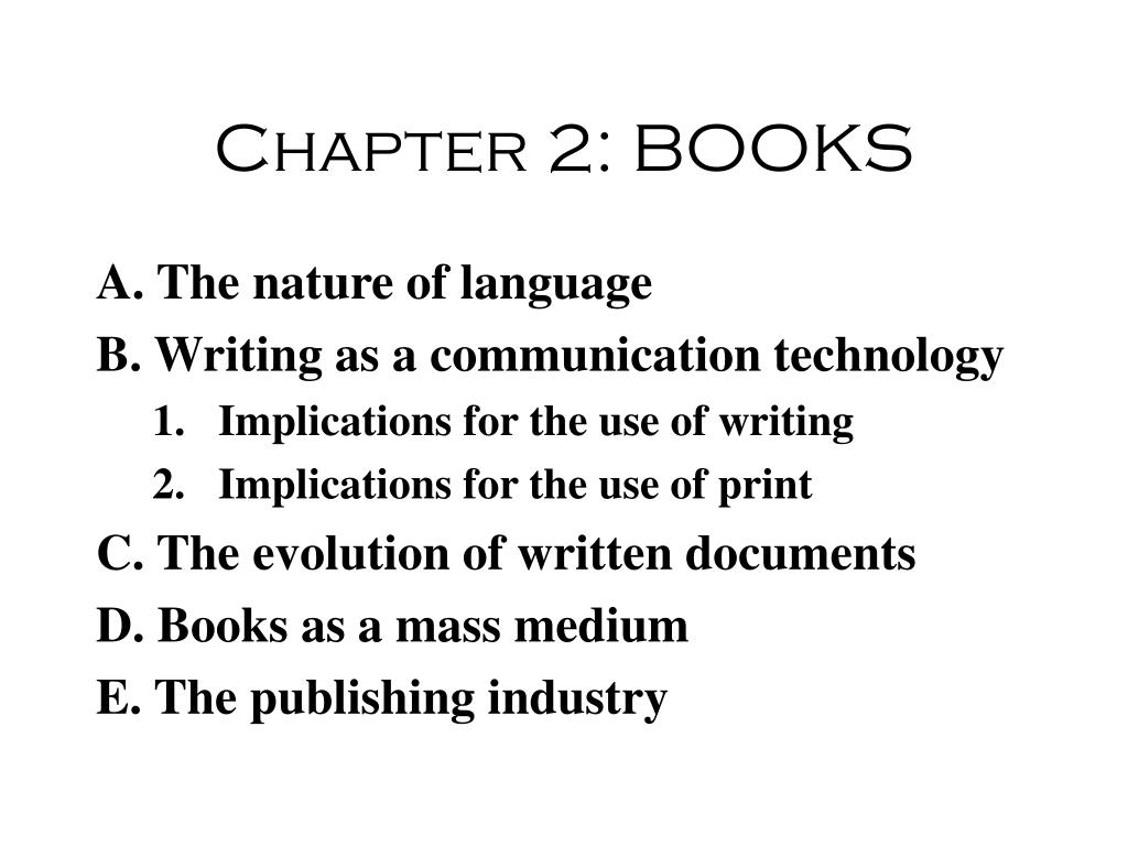 chapter 2 books l.