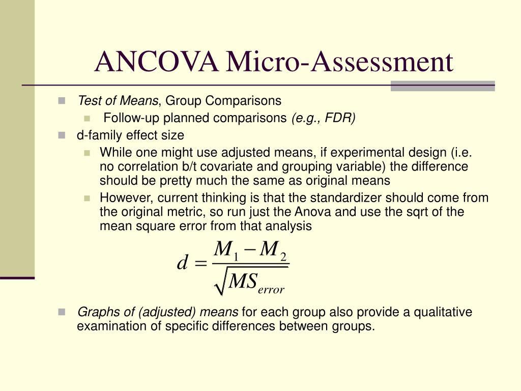 ANCOVA Micro-Assessment