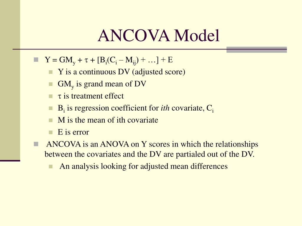 ANCOVA Model