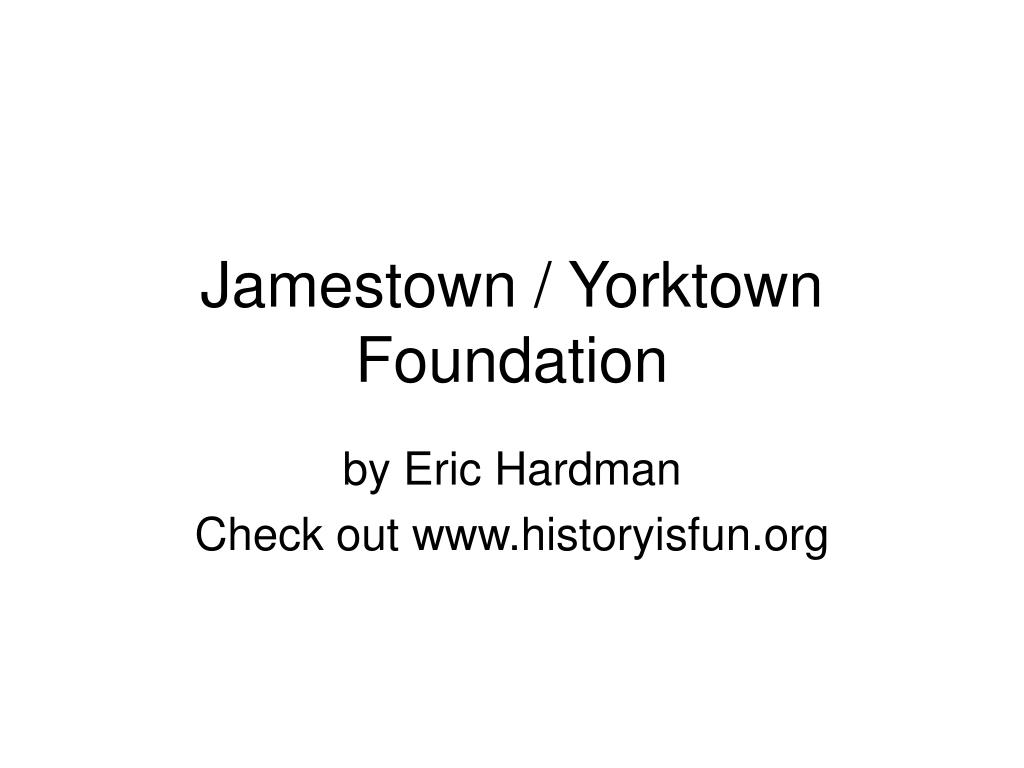 jamestown yorktown foundation l.