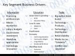 key segment business drivers