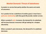 market demand threat of substitutes