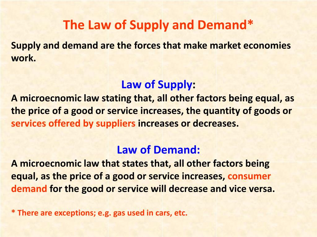 an analysis of the law of supply and demand Read this essay on summary of supply and demand summary and analysis of us stock market and the law of supply and demand.