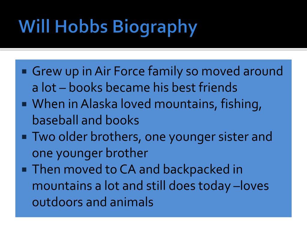 Will Hobbs Biography