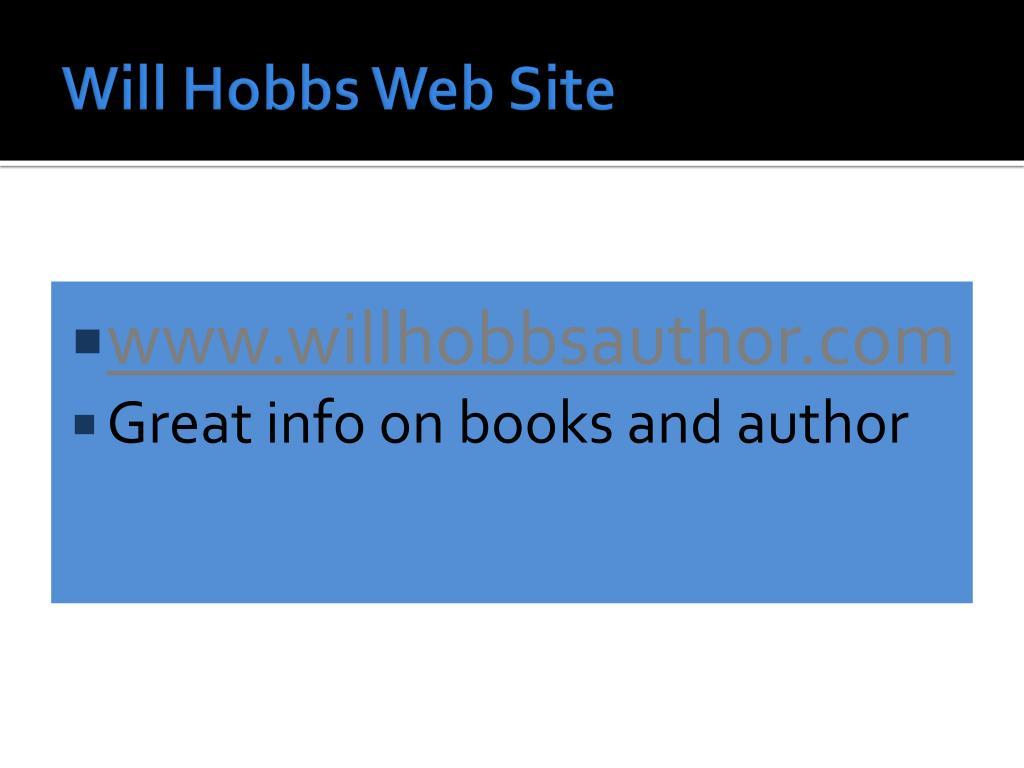 Will Hobbs Web Site