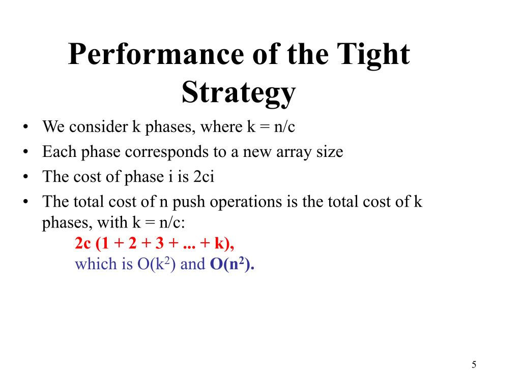 Performance of the Tight Strategy