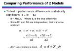 comparing performance of 2 models28