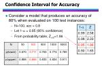 confidence interval for accuracy26