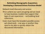 rethinking monographic acquisition developing a demand driven purchase model10