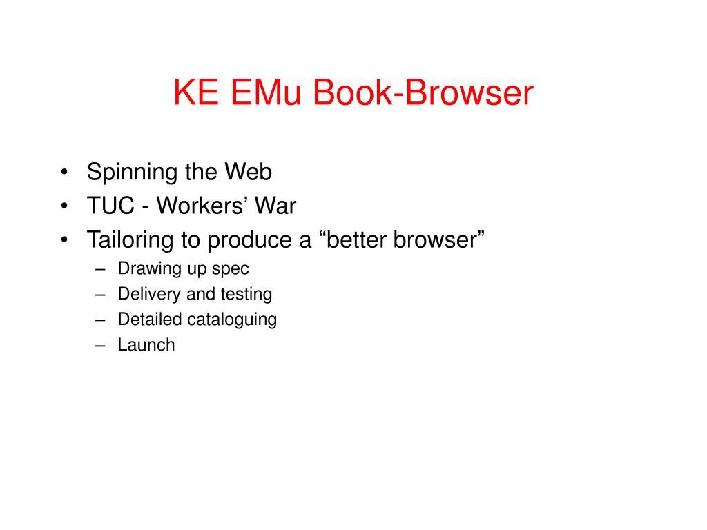 KE EMu Book-Browser