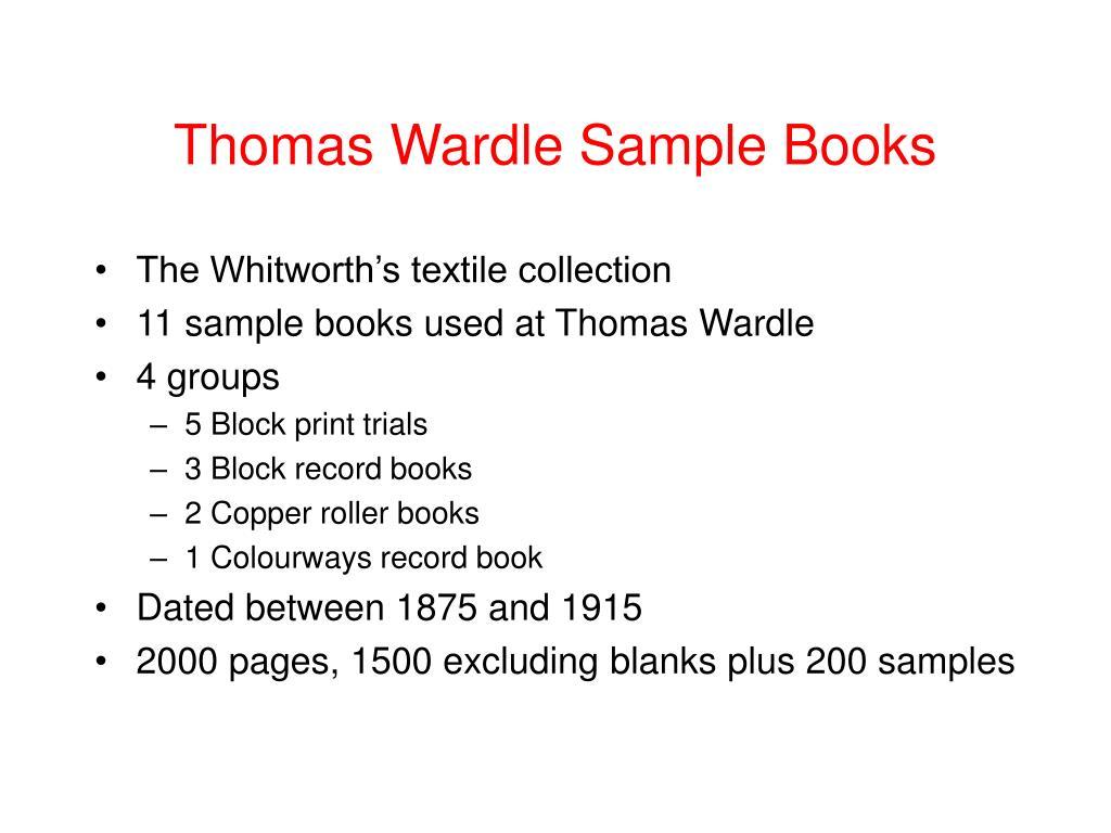 Thomas Wardle Sample Books