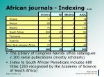 african journals indexing