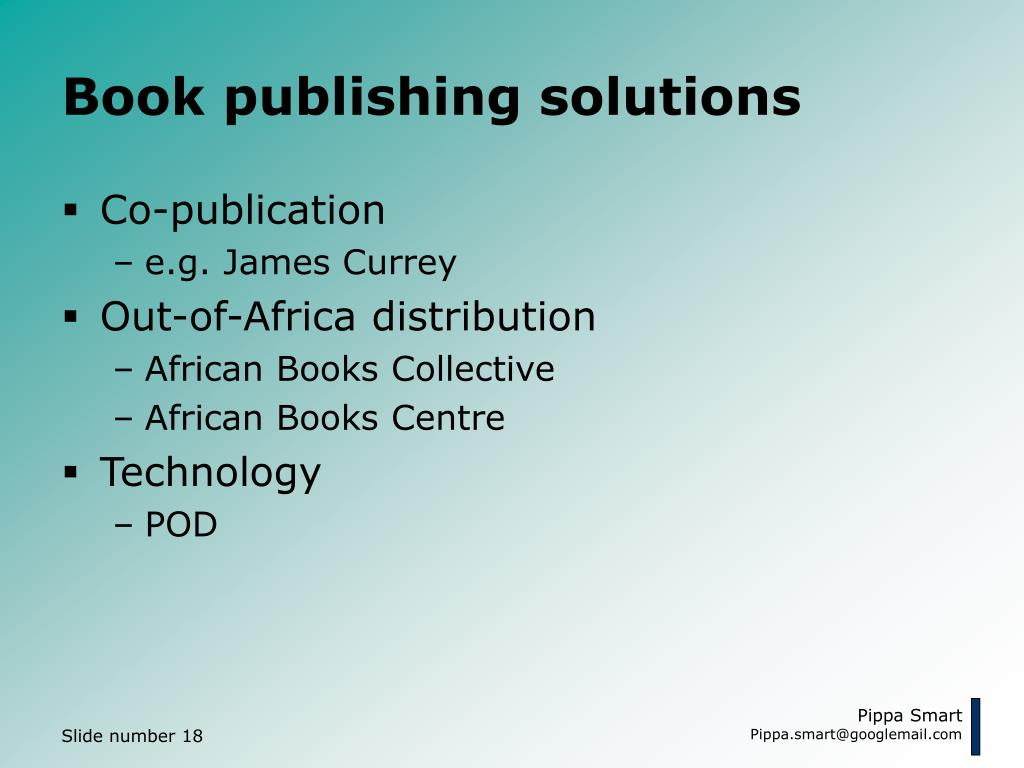 Book publishing solutions