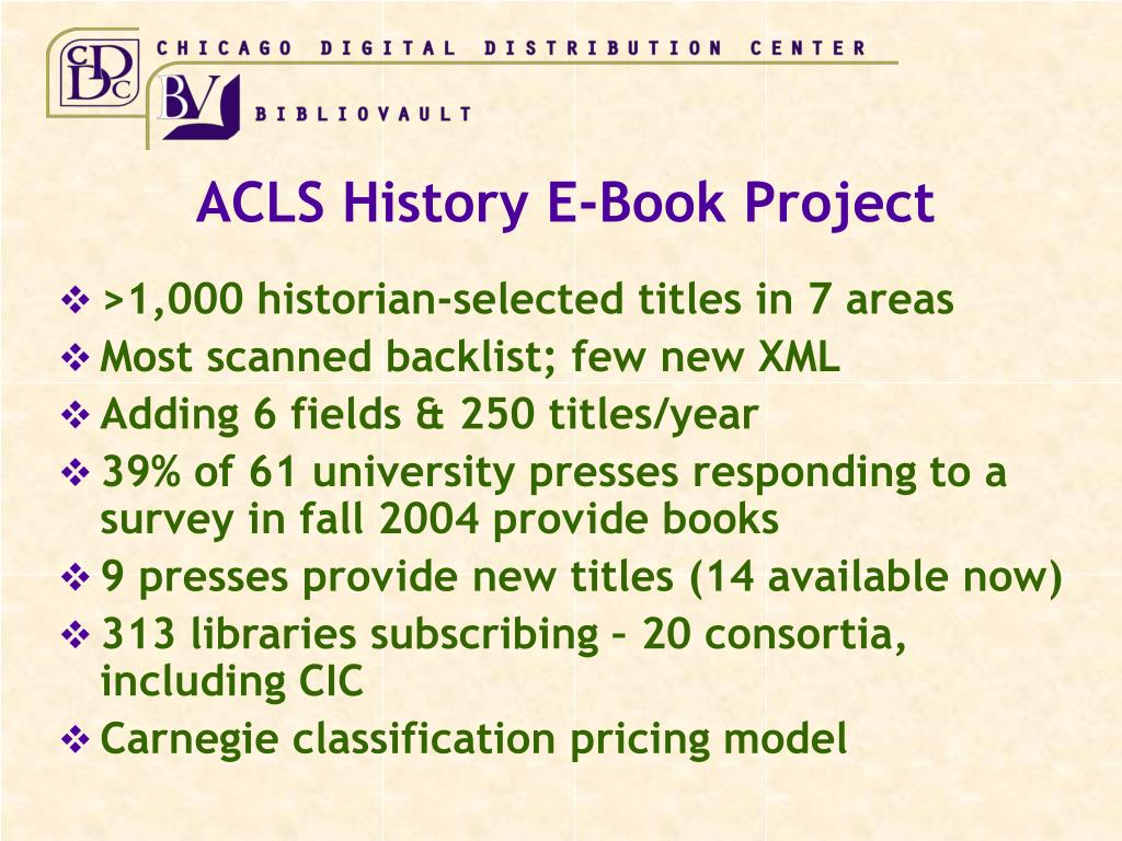 ACLS History E-Book Project