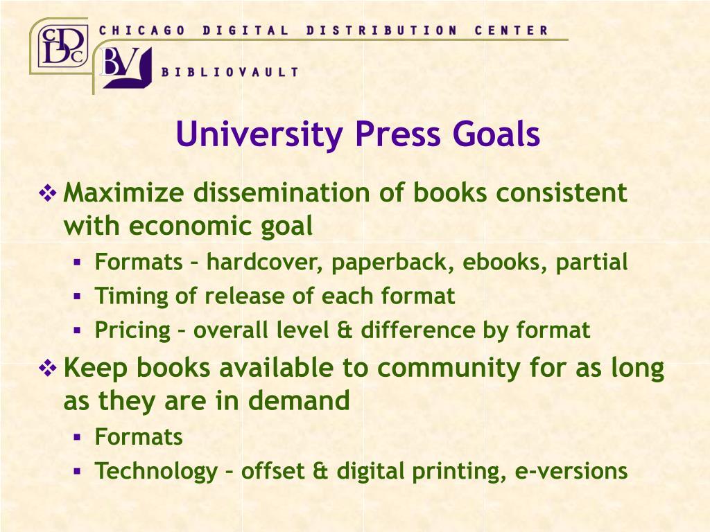 University Press Goals