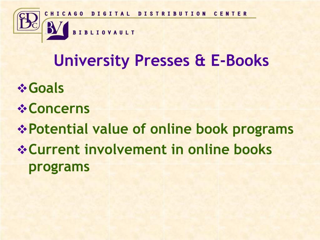 University Presses & E-Books