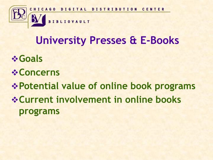 University presses e books2