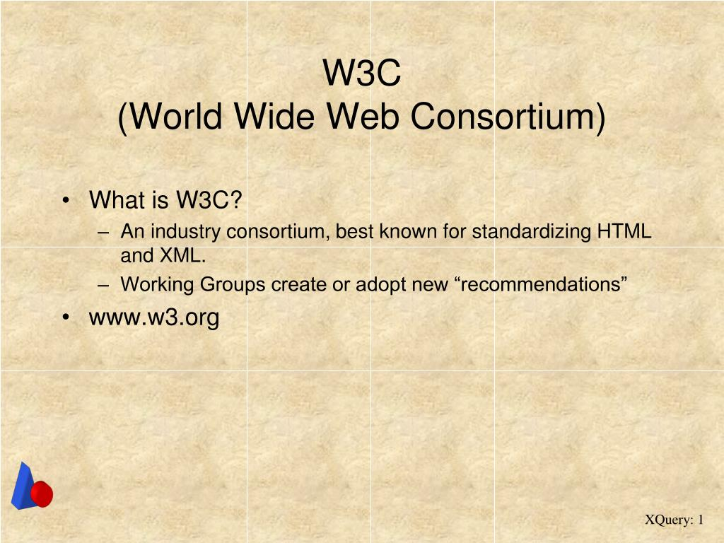 w3c world wide web consortium l.