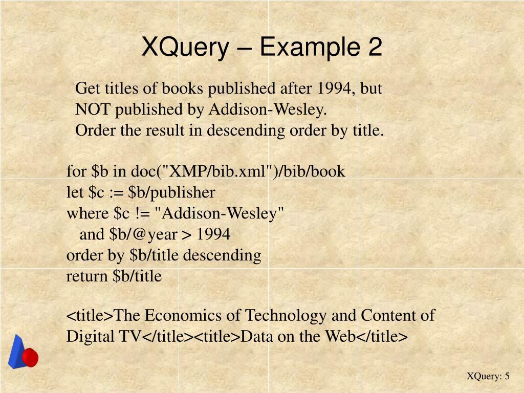 XQuery – Example 2