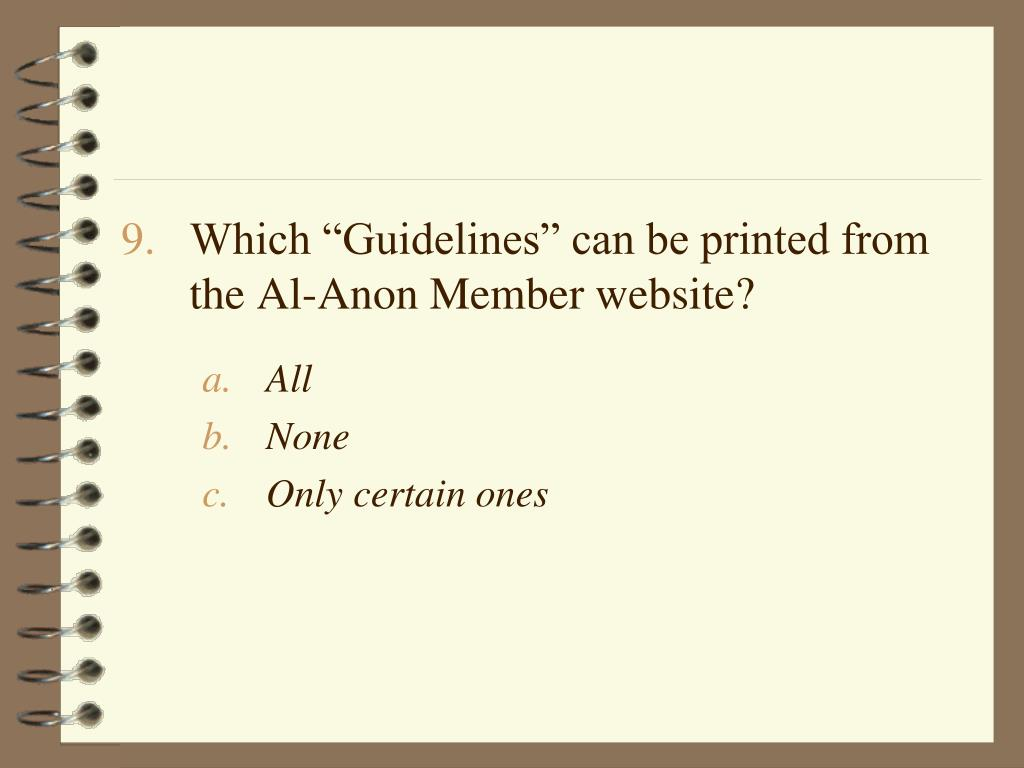 """Which """"Guidelines"""" can be printed from the Al-Anon Member website?"""
