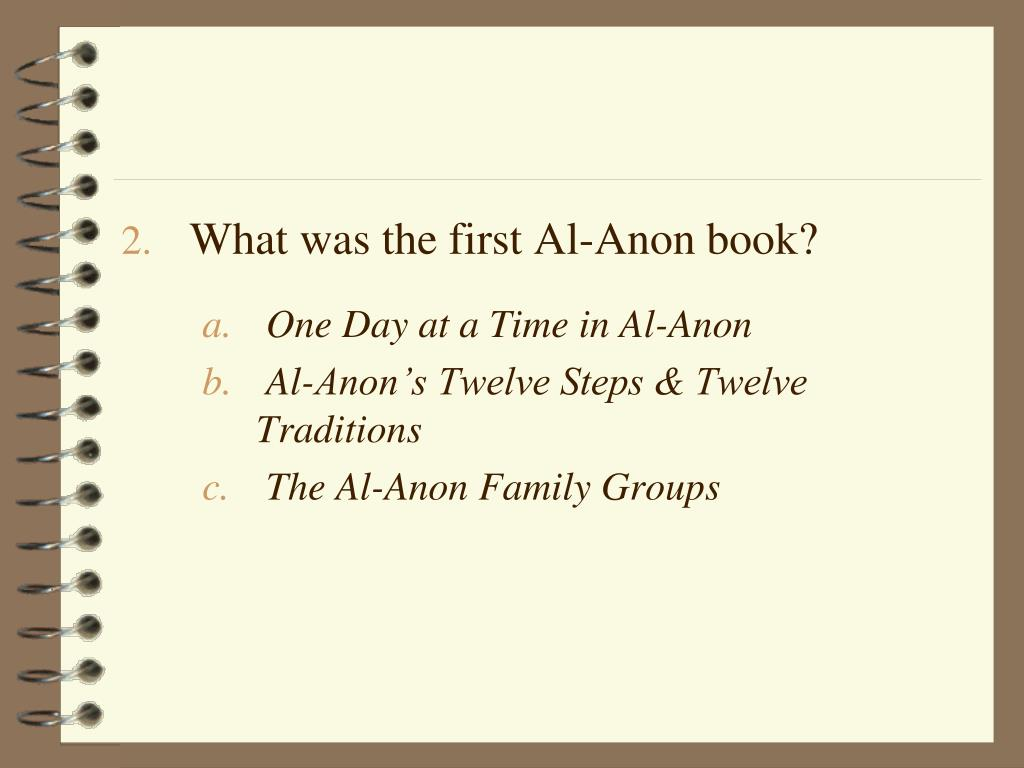 What was the first Al-Anon book?