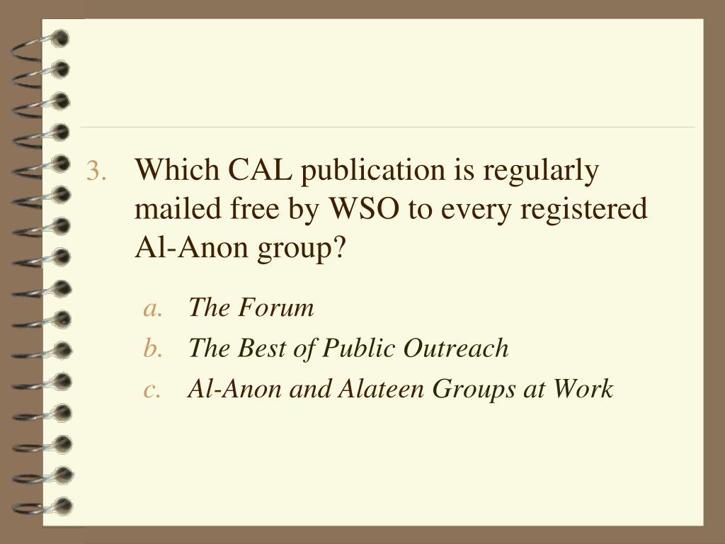 Which CAL publication is regularly mailed free by WSO to every registered Al-Anon group?
