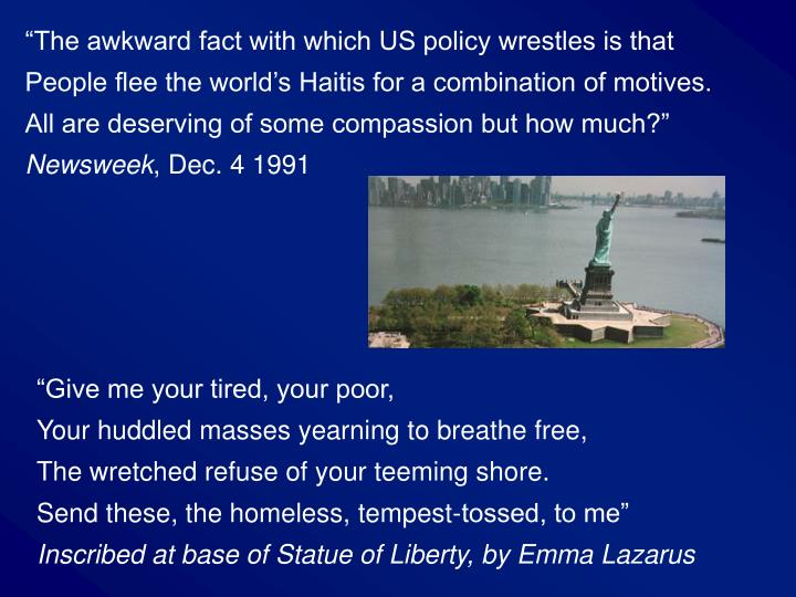 """""""The awkward fact with which US policy wrestles is that"""