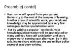 preamble contd