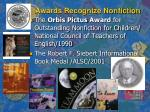 awards recognize nonfiction