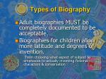 types of biography
