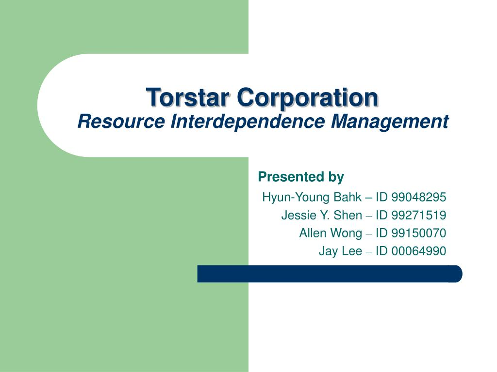 torstar corporation resource interdependence management l.