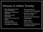 domains of athletic training