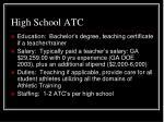 high school atc