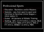professional sports