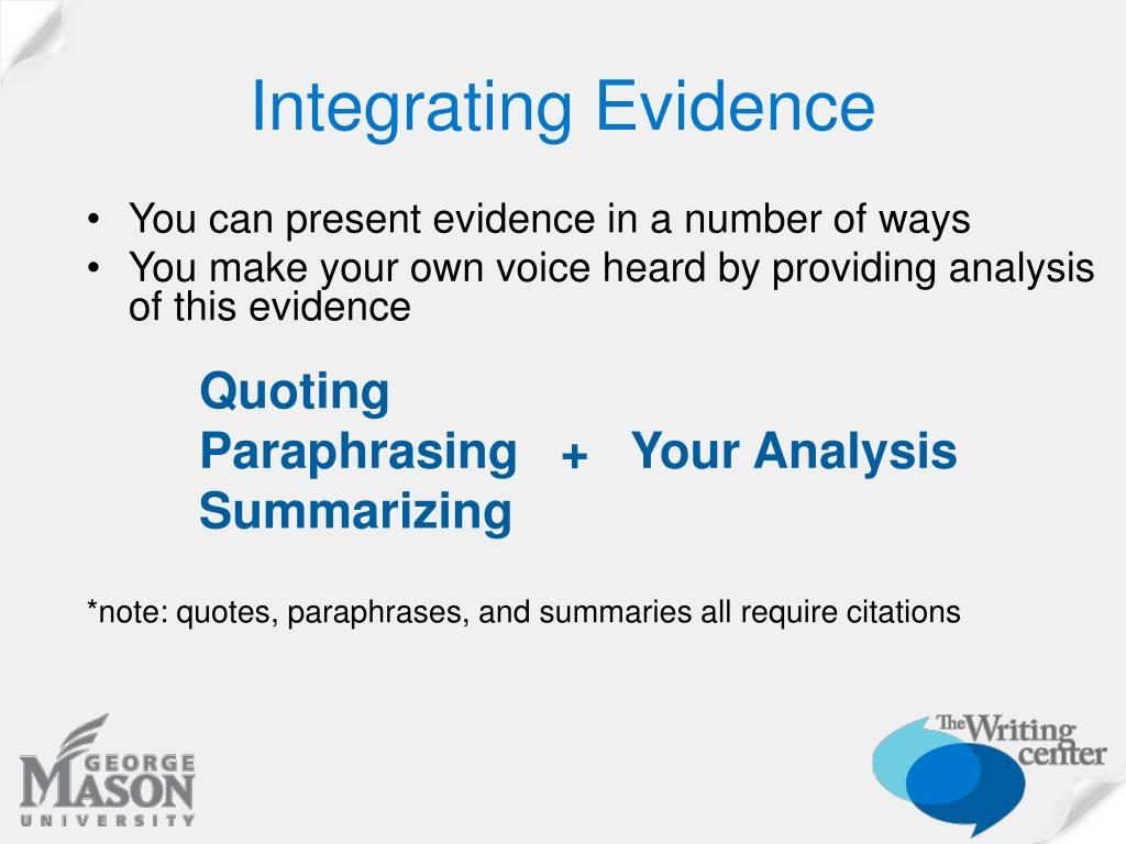 Integrating Evidence