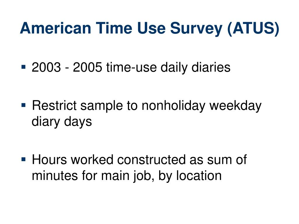 American Time Use Survey (ATUS)