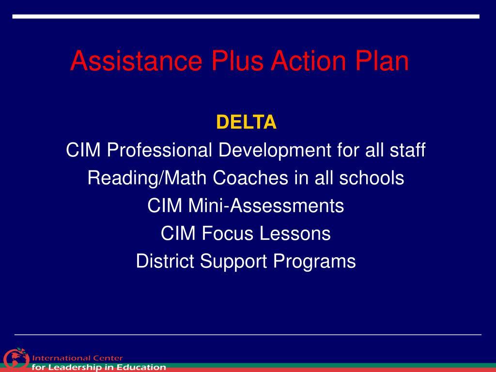 Assistance Plus Action Plan