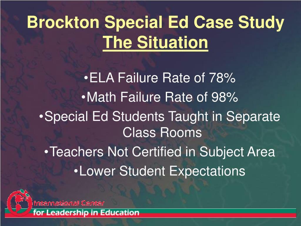 Brockton Special Ed Case Study