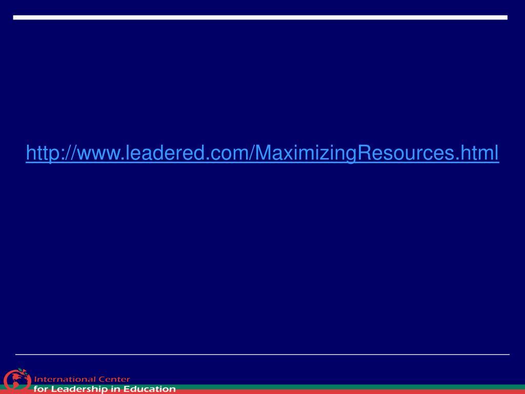 http://www.leadered.com/MaximizingResources.html