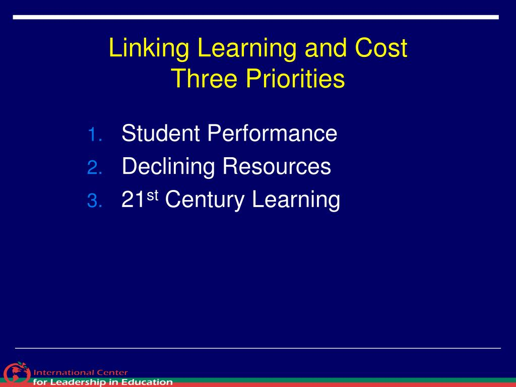 Linking Learning and Cost