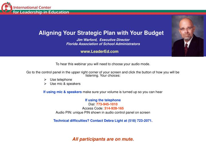 Aligning Your Strategic Plan with Your Budget