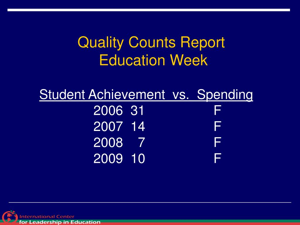 Quality Counts Report
