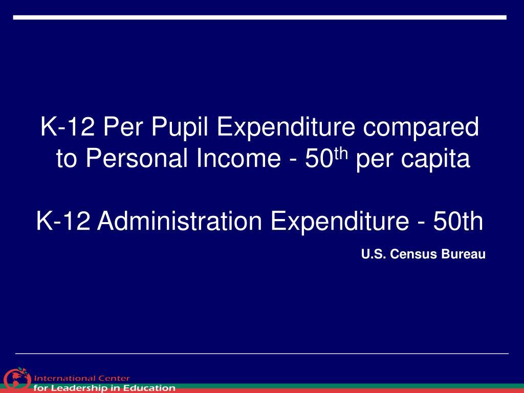 K-12 Per Pupil Expenditure compared