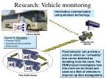 research vehicle monitoring