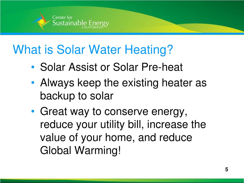 What is Solar Water Heating?