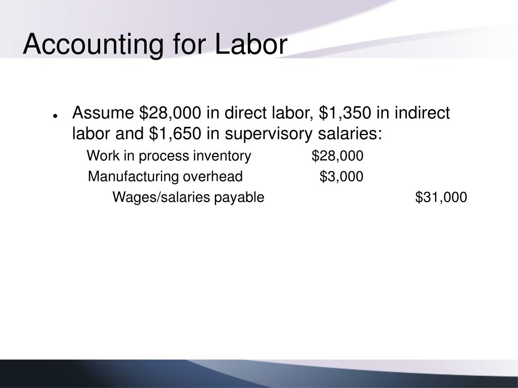 accounting inventory and direct labor