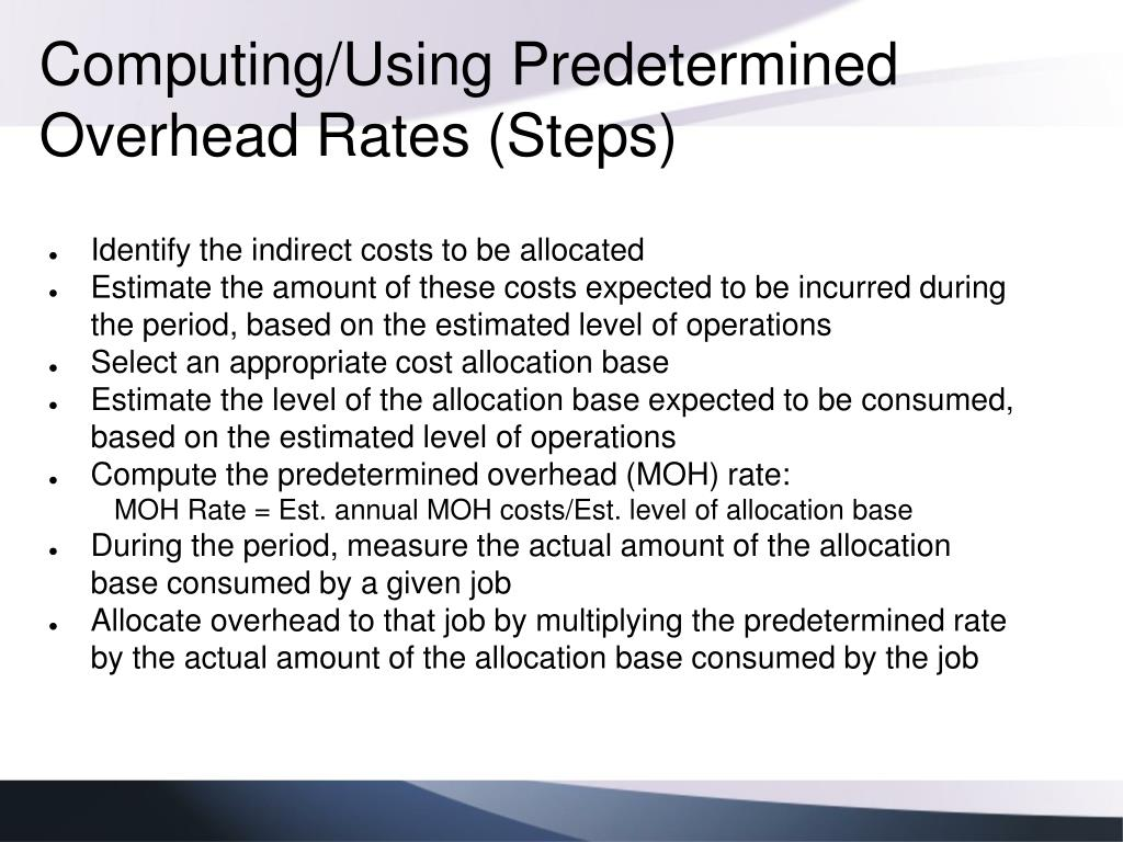 Computing/Using Predetermined