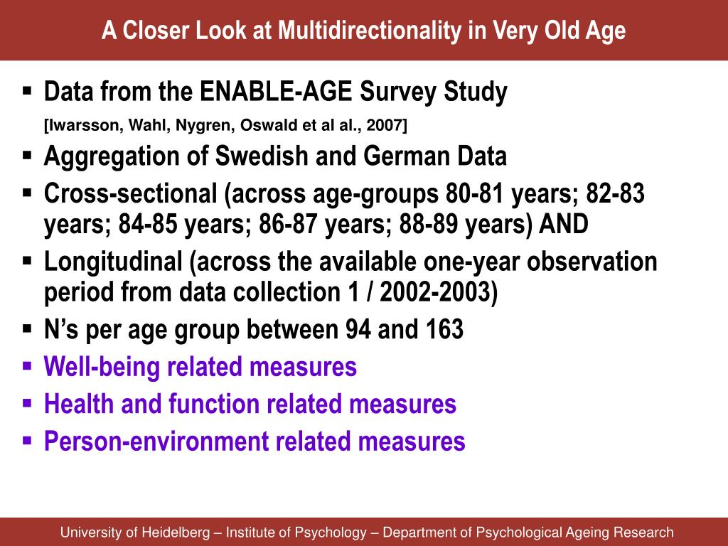 A Closer Look at Multidirectionality in Very Old Age